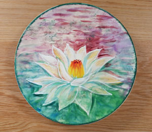 Virginia Beach Lotus Flower Plate