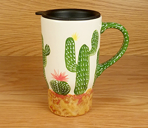 Virginia Beach Cactus Travel Mug