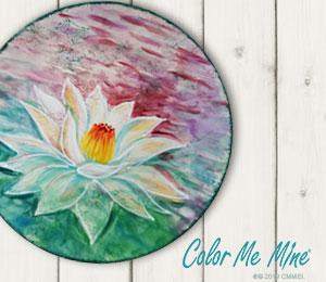 Virginia Beach Lotus Flower Plate