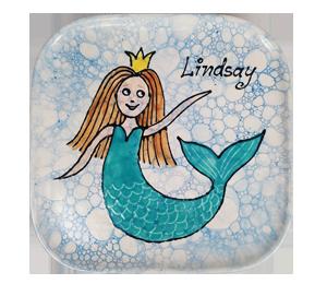 Virginia Beach Mermaid Plate