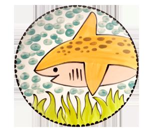 Virginia Beach Happy Shark Plate