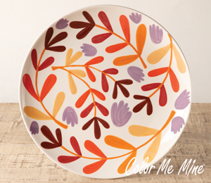Virginia Beach Fall Floral Charger