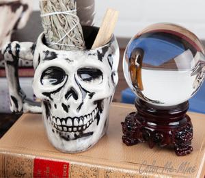 Virginia Beach Antiqued Skull Mug