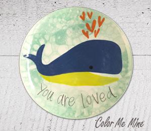 Virginia Beach Whale Love Plate