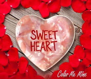 Virginia Beach Candy Heart Plate
