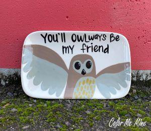Virginia Beach Owl Plate