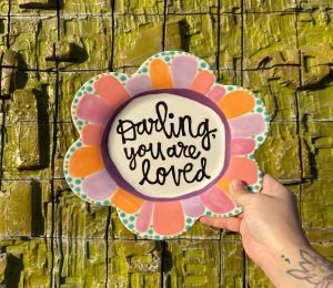 Virginia Beach Flower Plate
