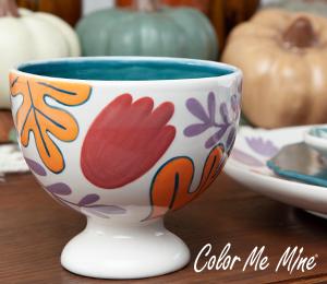 Norfolk Floral Pedestal Bowl