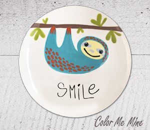 Norfolk Sloth Smile Plate