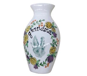 Norfolk Floral Handprint Vase